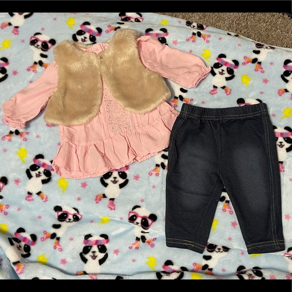 Little Lass Baby 3 Piece Outfit Baby Girls